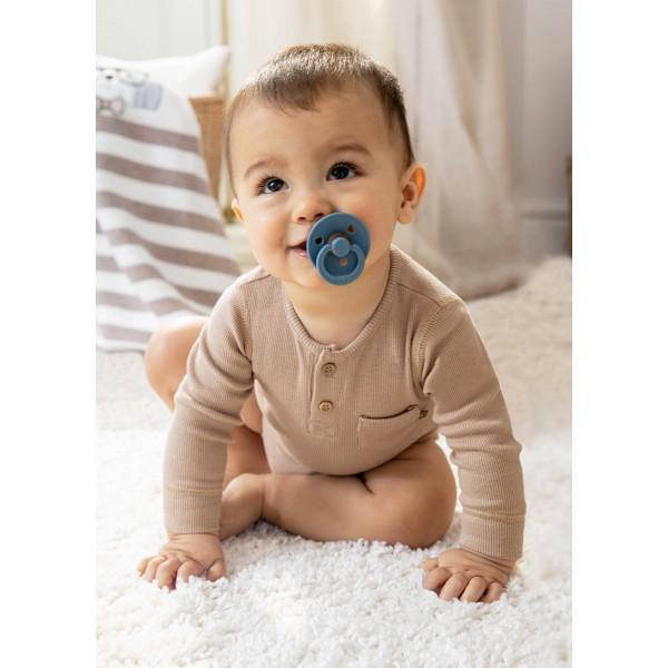 Връхно боди ECOFRIENDS на ивици за новородено момче