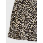 Пола панталон от еластичен велур за момиче