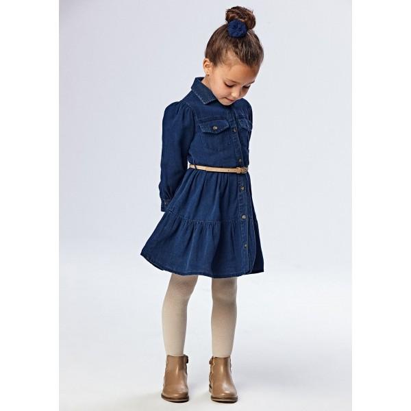 Дънкова рокля за момиче