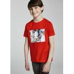 Тениска с принт велосипед за момче