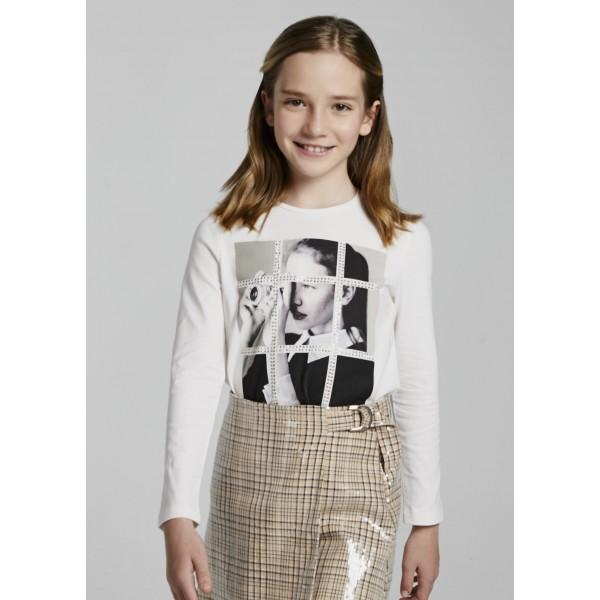 Блуза с камъчета за момиче