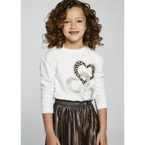 Блуза  ECOFRINEDS със сърца за момиче