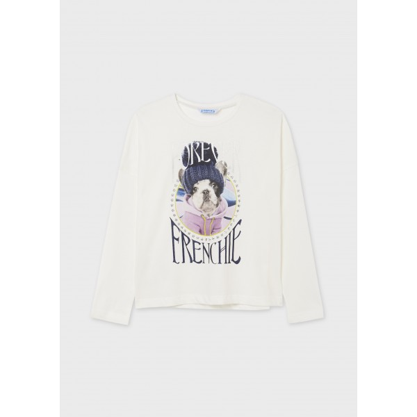 Блуза ECOFRIENDS с принт кученце за момиче - тийн серия