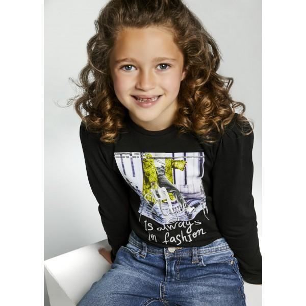 Блуза с принт Style за момиче - тийн серия