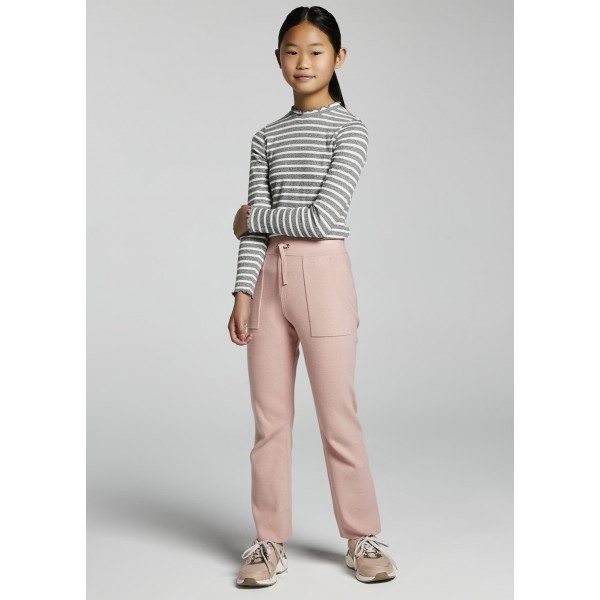 Дълъг трикотажен панталон за момиче - тийн серия