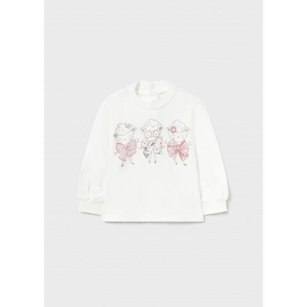 Блуза ECOFRIENDS полуполо и рисунка  за бебе момиче