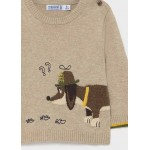 Пуловер с кученце за бебе момче