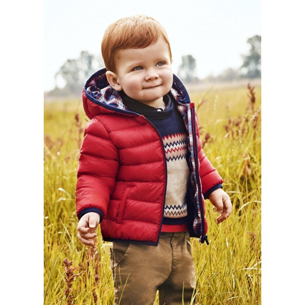 Есенно яке с торбичка за бебе момче