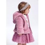 Пухено палто за бебе момиче