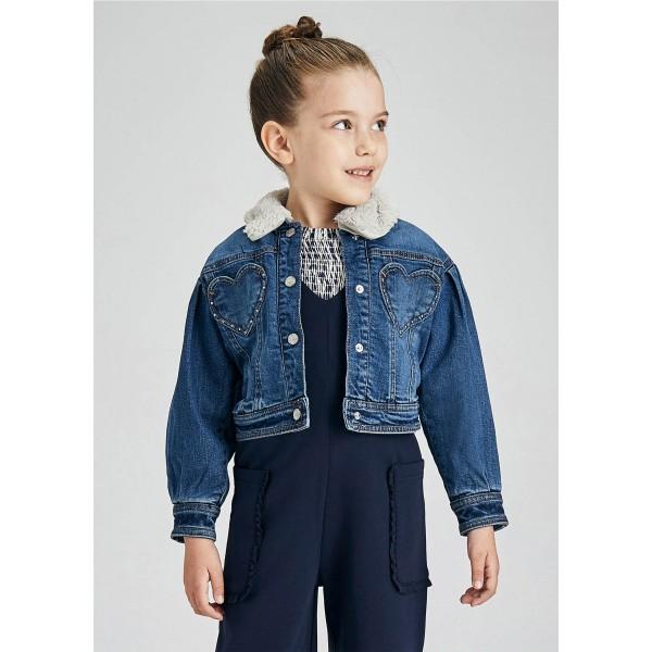Подплатено дънково яке за момиче