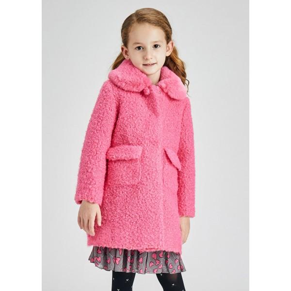 Елегантно палто с косъм за момиче
