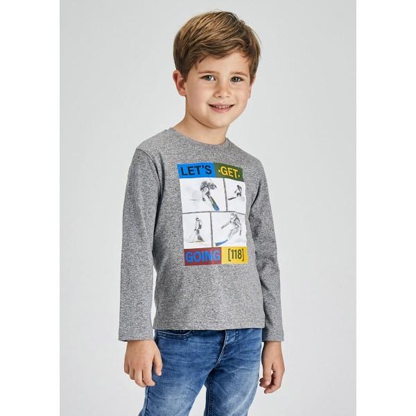 Блуза ECOFRIENDS с принт скиори за момче