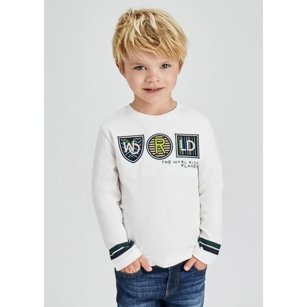 Блуза  ECOFRIENDS с цветни апликации за момче