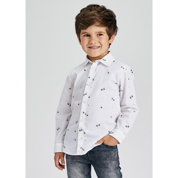 Риза ECOFRIENDS с дълъг ръкав и щампа за момче