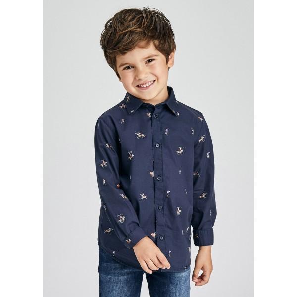 Риза ECOFRIENDS с дълъг ръкав и дигитална щампа за момче