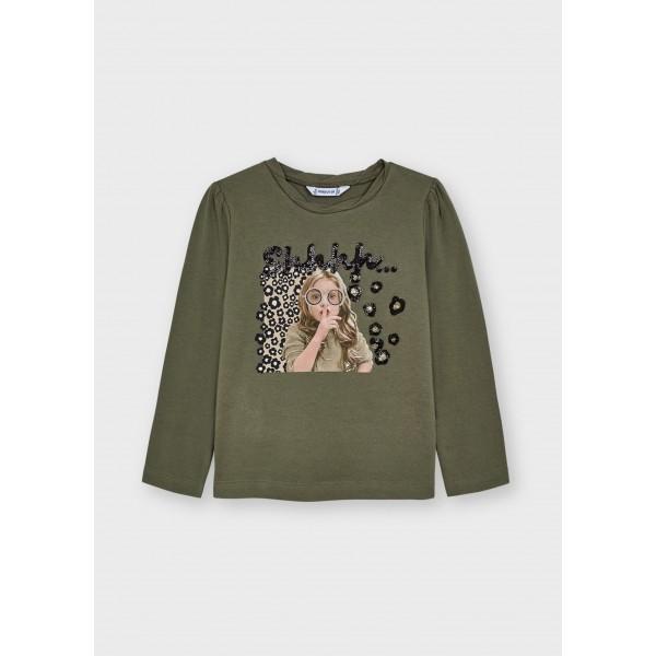 Блуза ECOFRIENDS с леопард мотив за момиче