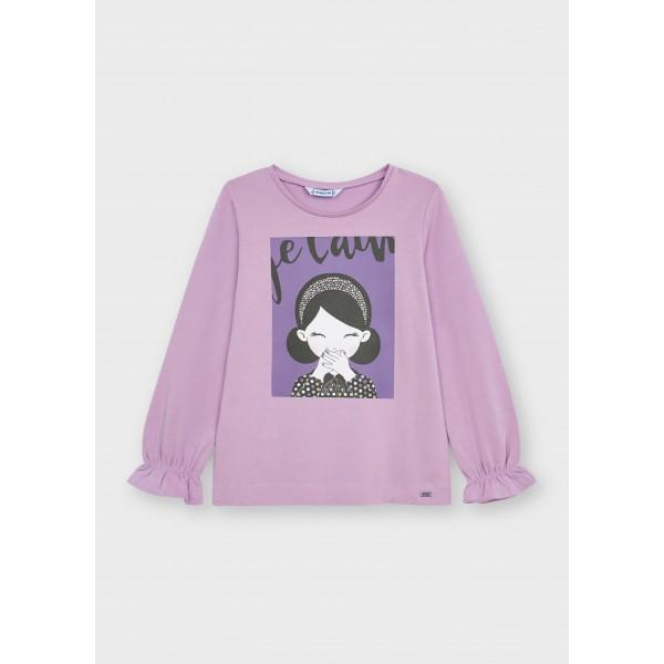 Блуза ECOFRIENDS с принт  момиче