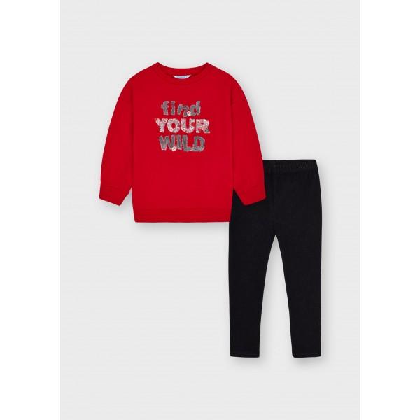 Комплект с клин knit denim за момиче
