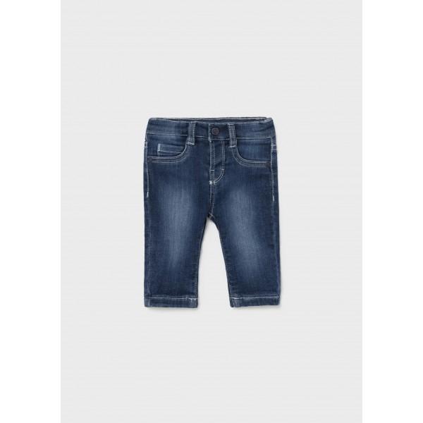 Дълъг основен дънков панталон за новородено момче