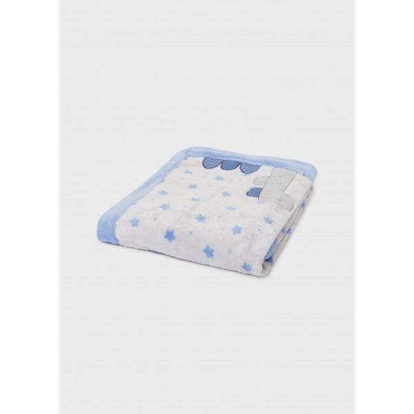 Одеяло с косъм и щампа за бебе