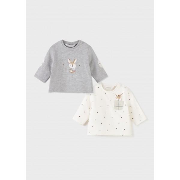 Комплект блузи с кученца за новородено момче