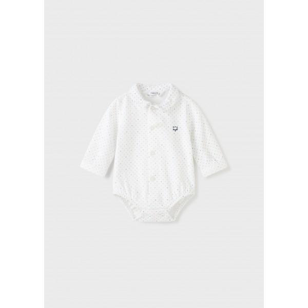 Боди тип риза ECOFRIENDS за новородено момче