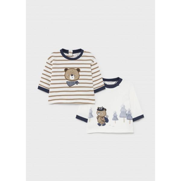 Комплект блузи с мече за новородено момче