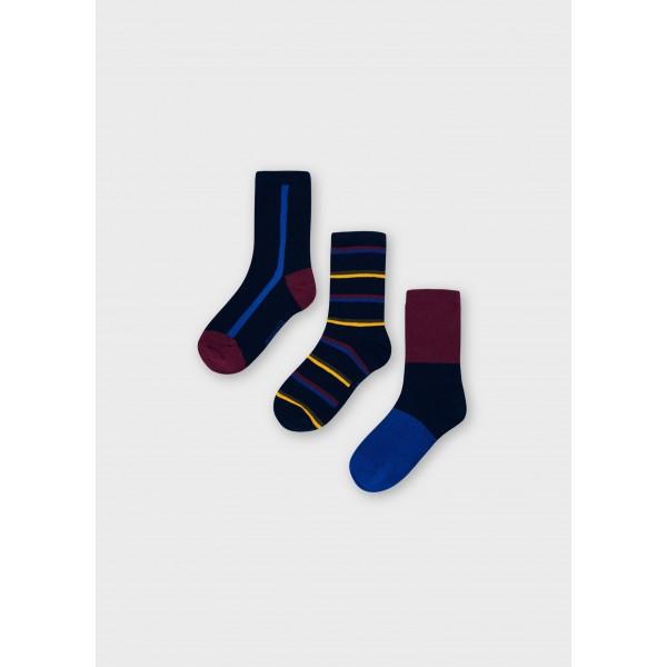 Комплект от 3 чифта чорапи на райета за момче