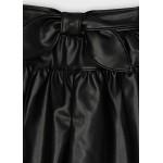 Пола панталон от изкуствена кожа за момиче