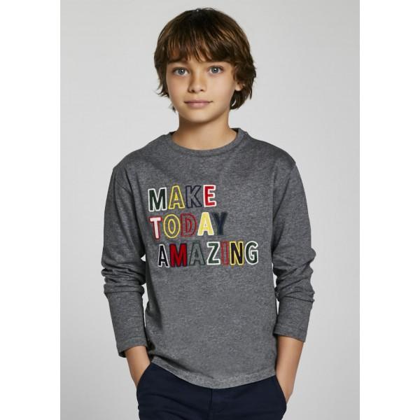 Блаза ECOFRIENDS с цветна бродерия за момче