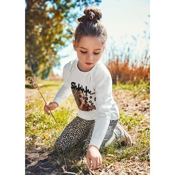 Комплект ECOFRIENDS с клин с щампа за момиче