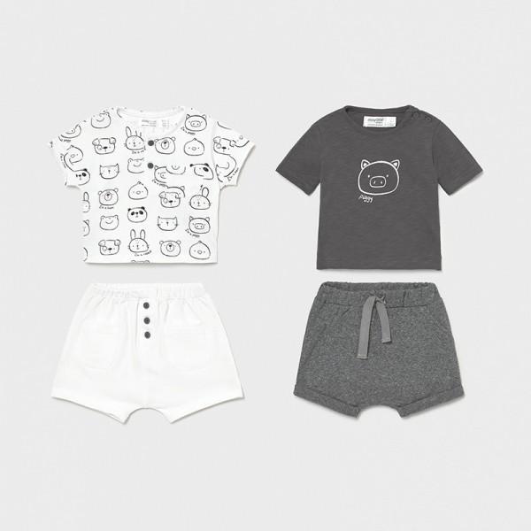 Трикотажен комплект от 4 части за новородено момче