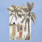 Тениска с палми от устойчив памук Ecofriends за момче