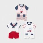 Комплект от 3 къси пижами за новородено момче