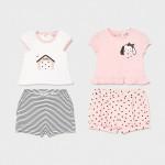 Комплект от 4 части за новородено момиче