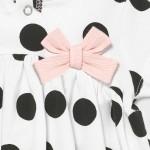 Трикотажна рокля на точки за новородено момиче