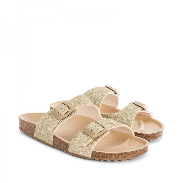 Бляскави сандали с декоративни каишки